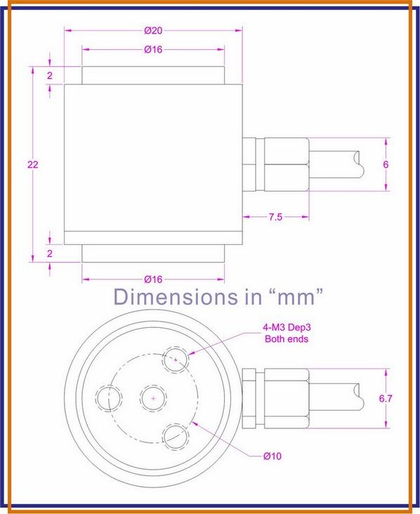 miniature load cell tension compression